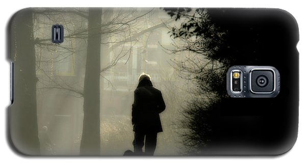 Galaxy S5 Case featuring the photograph Woman Walking Dog by Patricia Hofmeester