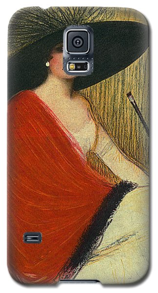 Woman Wearing Hat Galaxy S5 Case