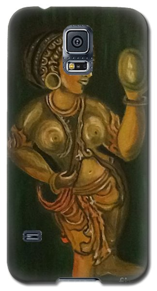 Woman With A Mirror Sculpture Galaxy S5 Case