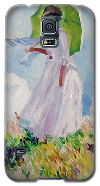 Woman With A Parasol Galaxy S5 Case