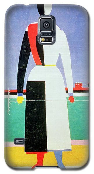 Woman With A Rake Galaxy S5 Case by Kazimir Severinovich Malevich