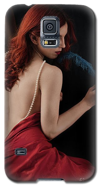 Woman With Blue Feather Galaxy S5 Case