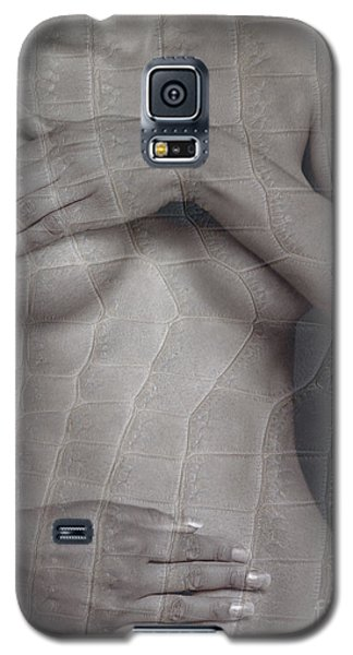 Galaxy S5 Case featuring the photograph Woman With Hands On Breasts by Michael Edwards