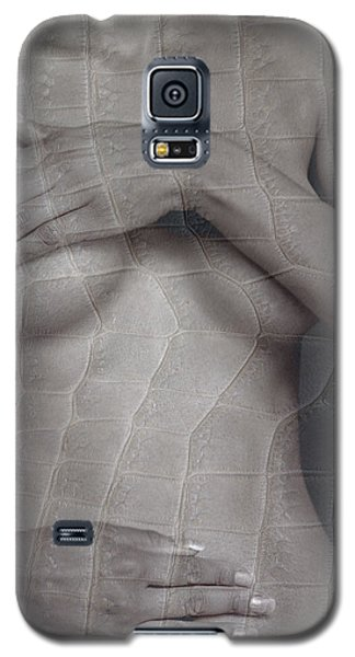 Woman With Hands On Breasts Galaxy S5 Case by Michael Edwards