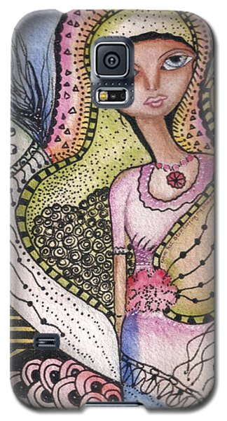 Woman With Large Eyes Galaxy S5 Case