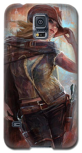 Galaxy S5 Case featuring the digital art Woman With No Name by Steve Goad