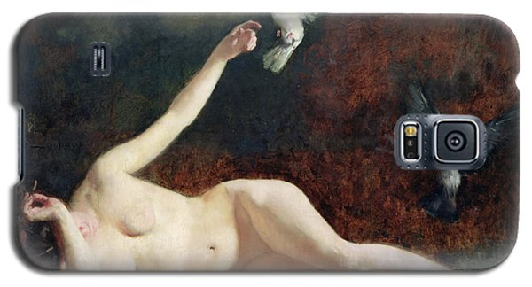 Woman With Pigeons Galaxy S5 Case by Ernst Philippe Zacharie