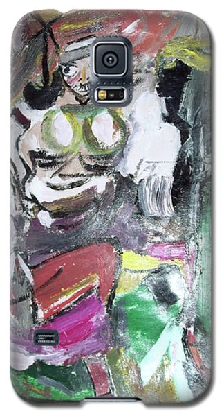 Galaxy S5 Case featuring the painting Women Art 102 by Robin Coaker