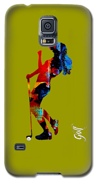Womens Golf Collection Galaxy S5 Case by Marvin Blaine
