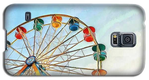 Galaxy S5 Case featuring the painting Wonder Wheel by Edward Fielding