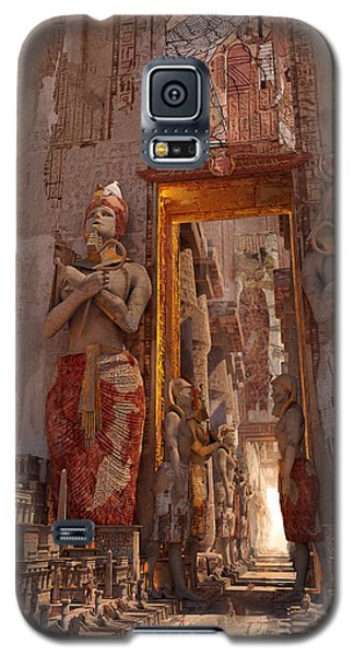 Galaxy S5 Case featuring the digital art Wonders Door To The Luxor by Te Hu