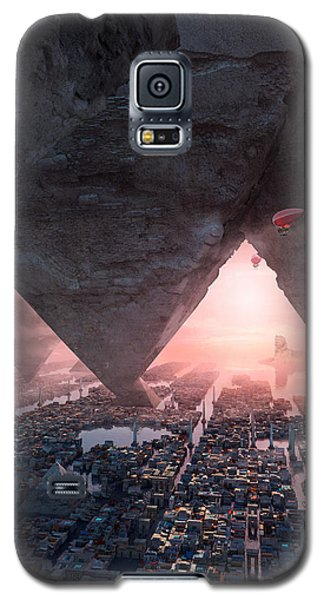 Galaxy S5 Case featuring the digital art wonders great pyrimaid of Giza by Te Hu