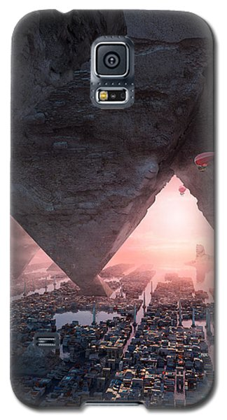 wonders great pyrimaid of Giza Galaxy S5 Case by Te Hu