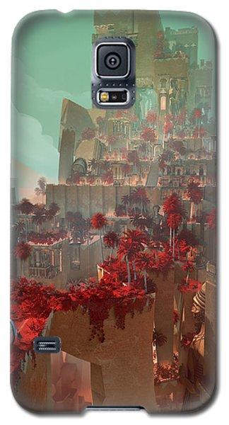 Galaxy S5 Case featuring the digital art Wonders Hanging Garden Of Babylon by Te Hu