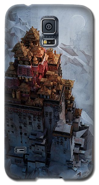 Galaxy S5 Case featuring the digital art Wonders Holy Temple by Te Hu