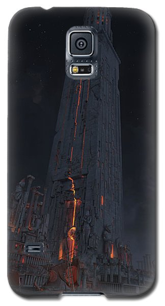 Galaxy S5 Case featuring the digital art Wonders Lighthouse Of Alxendria by Te Hu