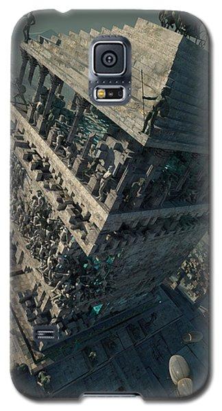 Galaxy S5 Case featuring the digital art wonders Mausoleum at Halicarnassus by Te Hu