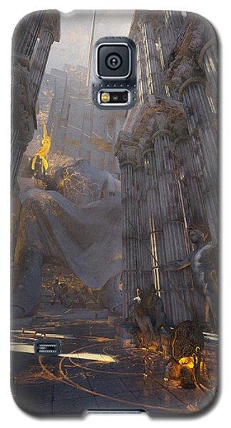 Galaxy S5 Case featuring the digital art Wonders Temple Of Zeus by Te Hu