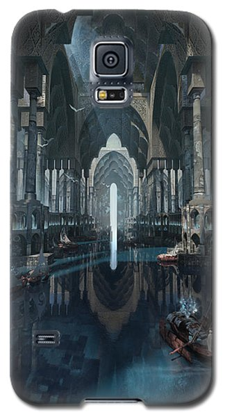 Galaxy S5 Case featuring the digital art Wonders The Canal Of Isfahan by Te Hu