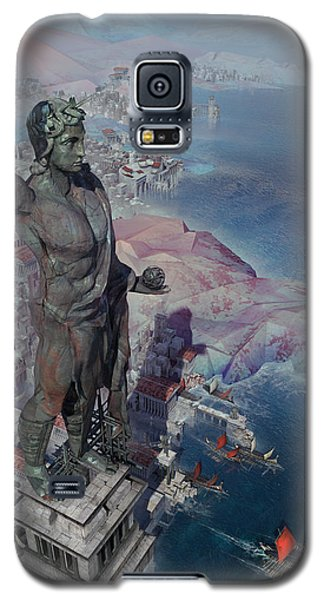wonders the Colossus of Rhodes Galaxy S5 Case by Te Hu