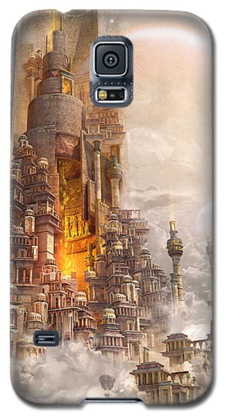 Wonders Tower Of Babylon Galaxy S5 Case by Te Hu