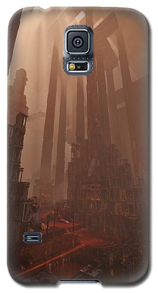 Galaxy S5 Case featuring the digital art Wonders_temple Of Artmeis by Te Hu