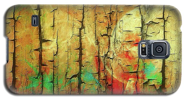 Galaxy S5 Case featuring the digital art Wood Abstract by Deborah Benoit