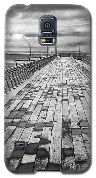 Galaxy S5 Case featuring the photograph Wood And Pier by Perry Webster