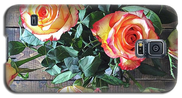 Daisy Galaxy S5 Case - Wood And Roses by Shadia Derbyshire