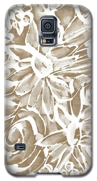 Wood And White Floral- Art By Linda Woods Galaxy S5 Case by Linda Woods