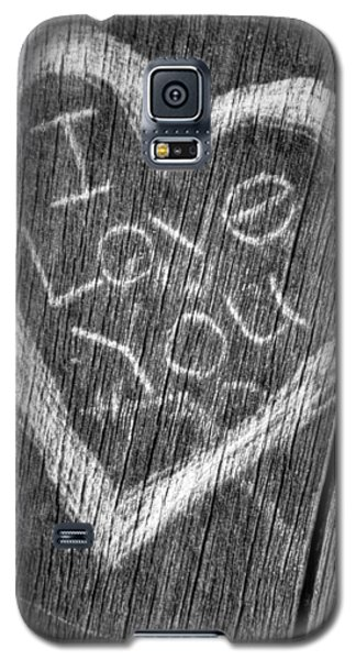 Wood Carving I Love You Galaxy S5 Case