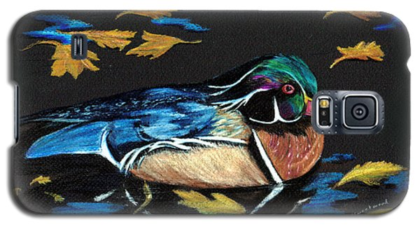 Wood Duck And Fall Leaves Galaxy S5 Case by Carol Sweetwood