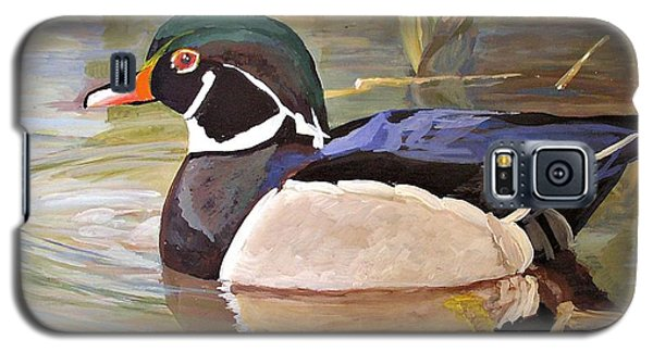 Wood Duck On Pond Galaxy S5 Case