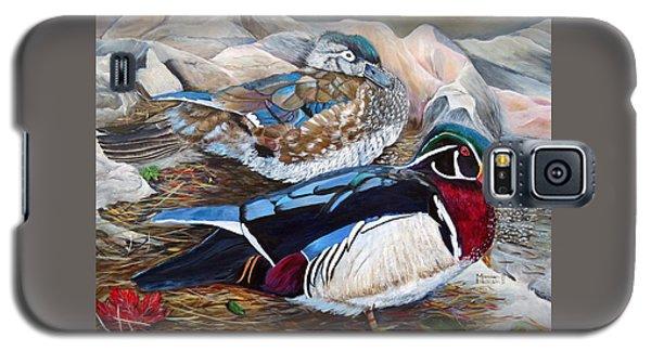 Wood Ducks  Galaxy S5 Case by Marilyn  McNish
