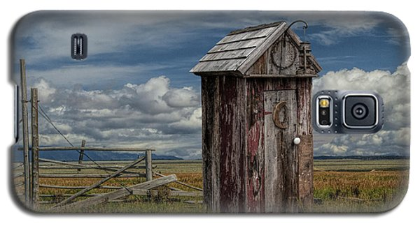 Wood Outhouse Out West Galaxy S5 Case by Randall Nyhof