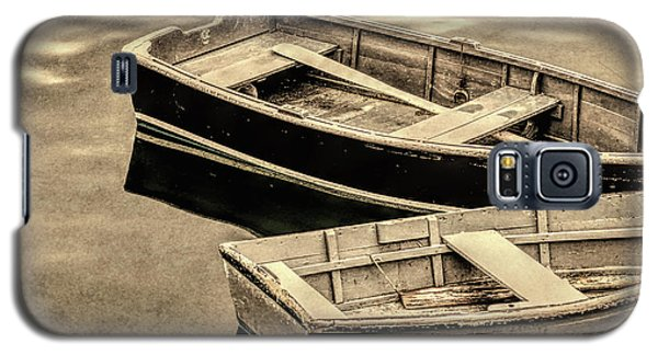 Wood Rowboats Sepia Distressed Galaxy S5 Case