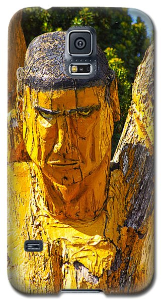 Wood Sculpture In A Garden Galaxy S5 Case