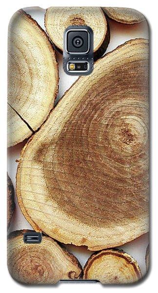 Wood Slices- Art By Linda Woods Galaxy S5 Case by Linda Woods