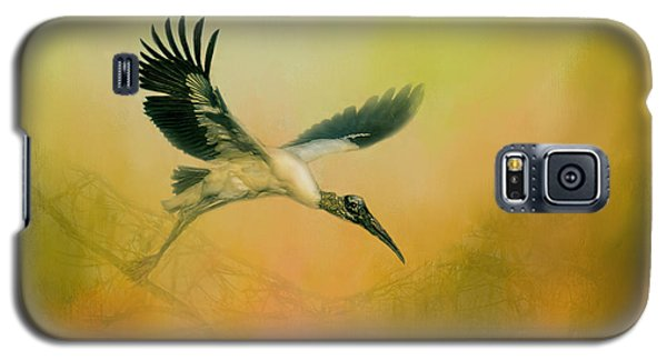 Galaxy S5 Case featuring the photograph Wood Stork Encounter by Marvin Spates