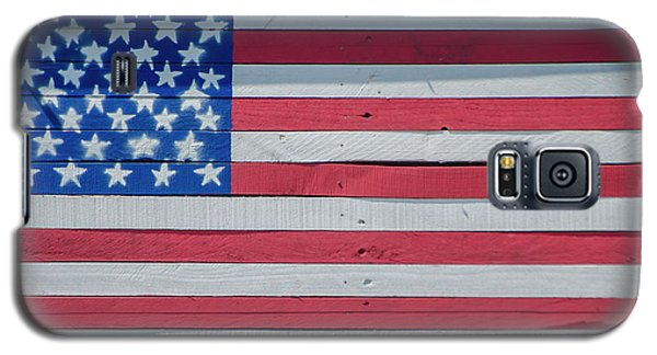 Galaxy S5 Case featuring the photograph Wooden American Flag by Bill Cannon