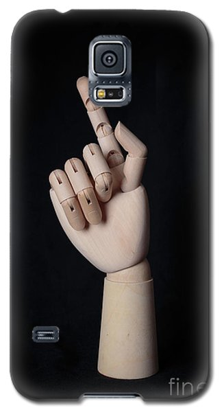 Galaxy S5 Case featuring the photograph Wooden Artist Hand Model Finger by Edward Fielding