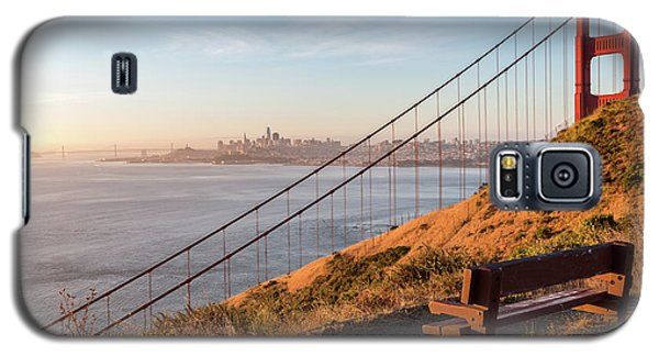 Wooden Bench Overlooking Downtown San Francisco With The Golden  Galaxy S5 Case