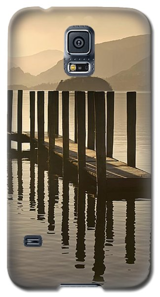 Wooden Dock In The Lake At Sunset Galaxy S5 Case