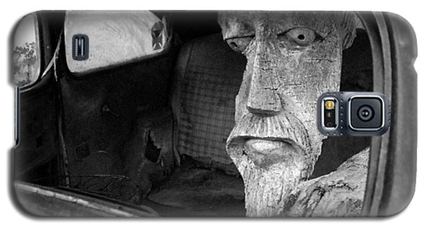 Galaxy S5 Case featuring the photograph Wooden Head by Jim Mathis