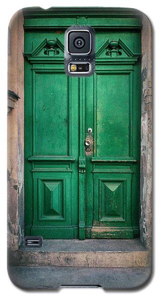 Wooden Ornamented Gate In Green Color Galaxy S5 Case by Jaroslaw Blaminsky