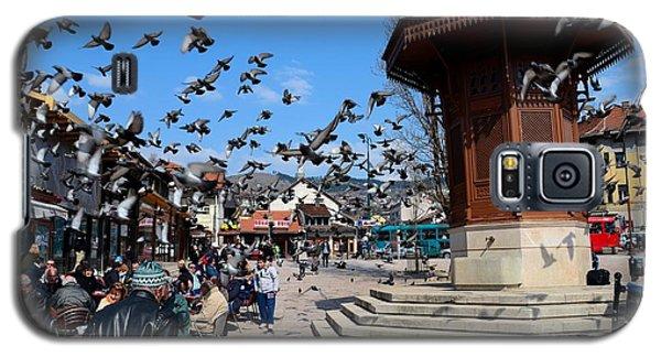 Wooden Ottoman Sebilj Water Fountain In Sarajevo Bascarsija Bosnia Galaxy S5 Case by Imran Ahmed