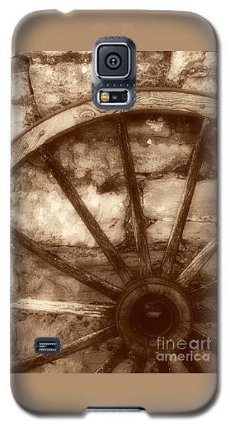 Wooden Wagon Wheel Galaxy S5 Case