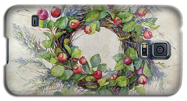 Galaxy S5 Case featuring the digital art Woodland Berry Wreath by Colleen Taylor