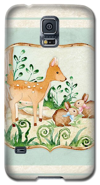 Woodland Fairy Tale - Deer Fawn Baby Bunny Rabbits In Forest Galaxy S5 Case