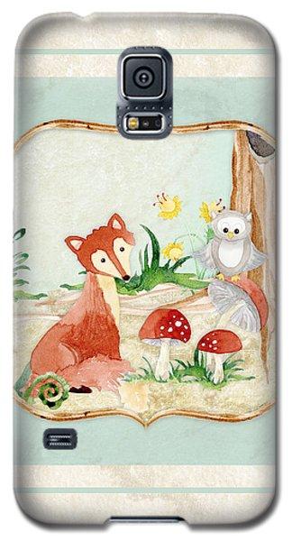 Woodland Fairy Tale - Fox Owl Mushroom Forest Galaxy S5 Case by Audrey Jeanne Roberts